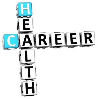 3D Health Career Crossword on white background